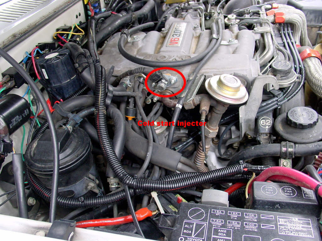 Pcv Valve Diagram in addition 1987 Toyota Pickup 22r Fuel Filter Location together with Toyota 22re Egr Temp Sensor Location also 94 Toyota V6 Cold Start Valve Location further 94 Ford F150 Fuse Box Diagram. on toyota pickup 22re fuel filter
